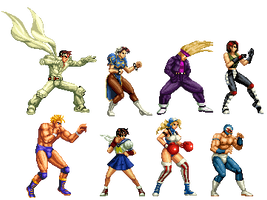 KOF EDITS1 Capcom chara by Ryoga-rg