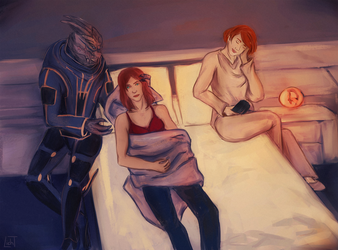 Commission: Night on Normandy by AlexDLicht