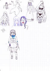 pen doodles by monmoshi