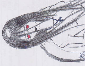 Creepy Woman by monmoshi