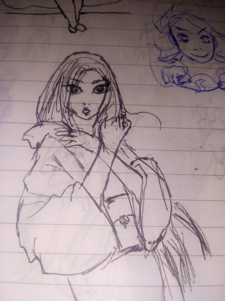 Kimono lady by monmoshi