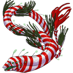 Deepseadragon Teen: Christmasmistletoe Pattern by LalunaCatchadora