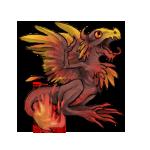 PhoenixDragon Hatchling: First Color Pattern by LalunaCatchadora