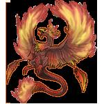 PhoenixDragon Adult: First Color Pattern by LalunaCatchadora