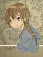Girl in Blue Sweater by tamaneko-i-b