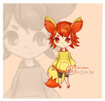 //Adoptable 006 - Gijinka Fennekin // closed by tamaneko-i-b