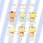 [Adoptable] French Desserts Cats (closed)