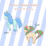 [Adoptable] Winter/Spring Pony (2/2 open)