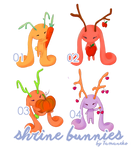 [Adoptables] Shrine Bunnies [OPEN] by tamaneko-i-b