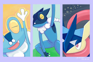 [Speedpaint] Pokemon - Froakie Evolution by tamaneko-i-b