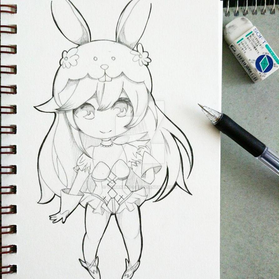 Easter Lucina Chibi (Fire Emblem Heroes) by tamaneko-i-b