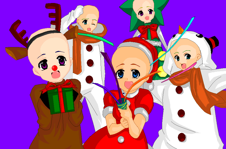 Higurashi Christmas :Base: by Venulsaa on DeviantArt