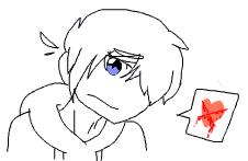 Sketch: Broken Heart by cloverthecatmation