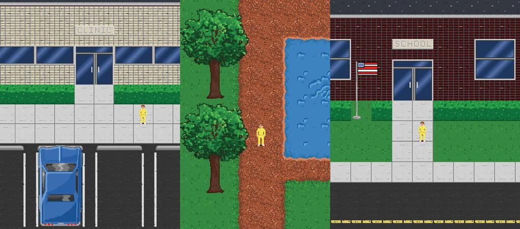 Detention Center Game Art by Metajake