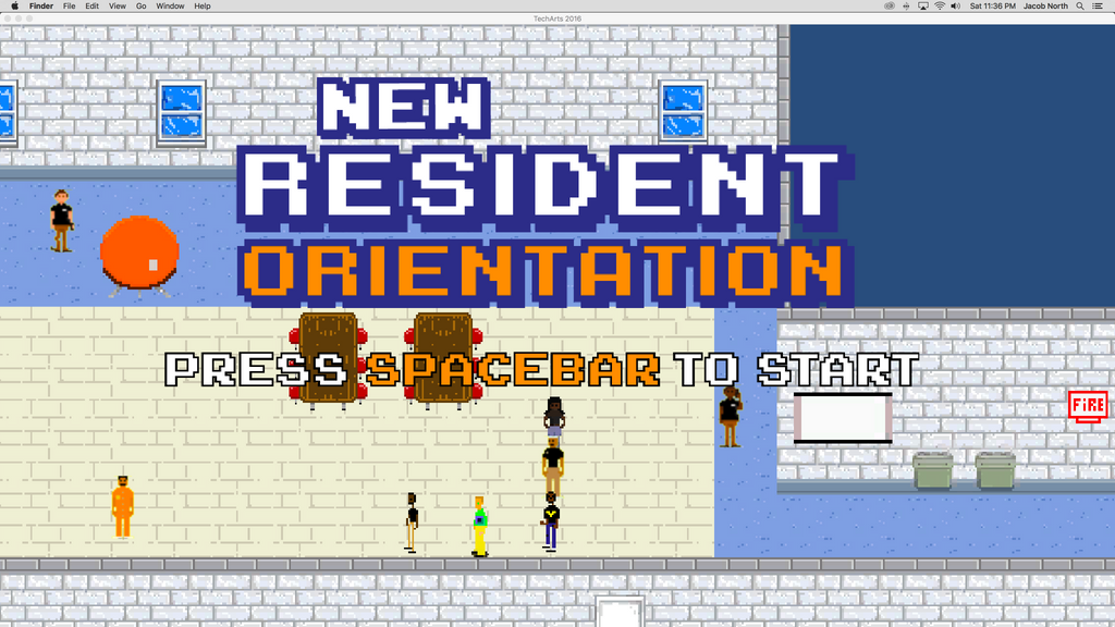 Detention Center Title Screen by Metajake
