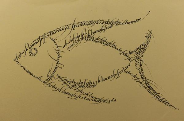 Fish calligraphy art by jeyaprakash on deviantart