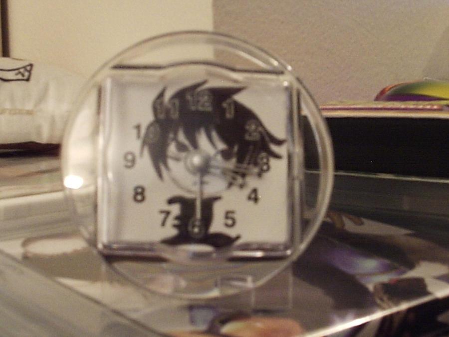 Chibi L mini clock by cutiechibi
