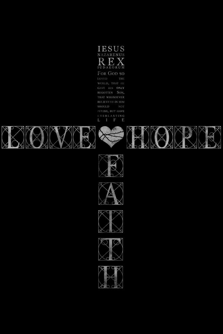 I.N.R.I. - Love, Hope, Faith. by scorpionkiss