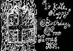 Birthday Card to Kate, 2021 (inside...