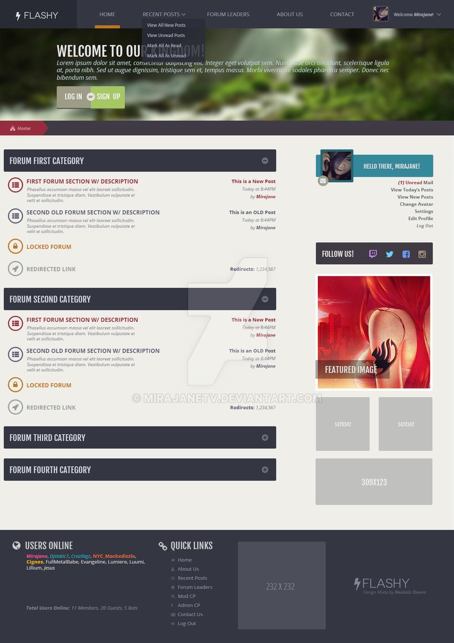 Flashy: Forum Design by MirajaneTV