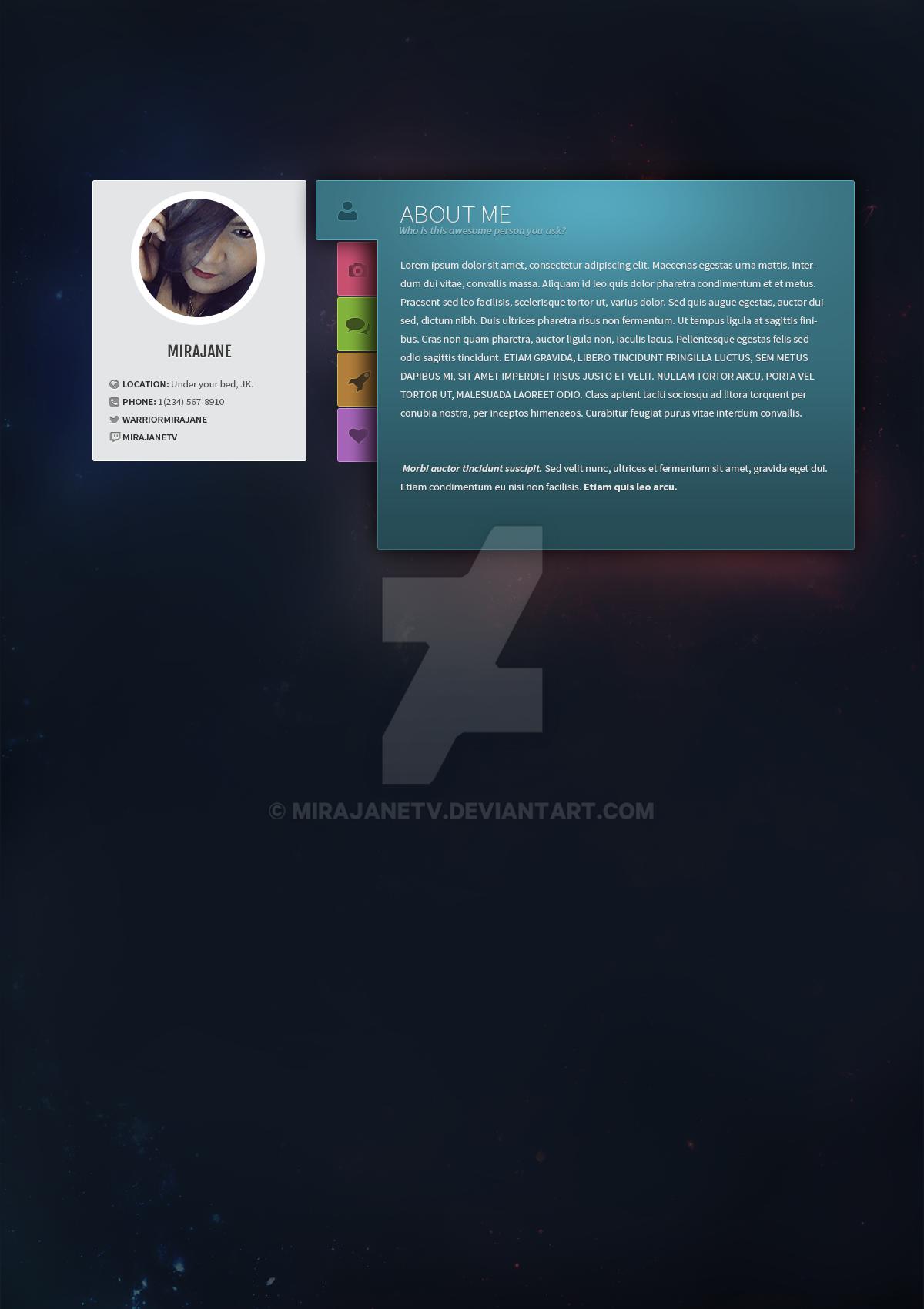 Website Design: vCard by MirajaneTV