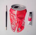 Coke can cruched