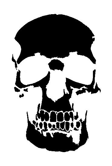 skull stencil by tui-rector