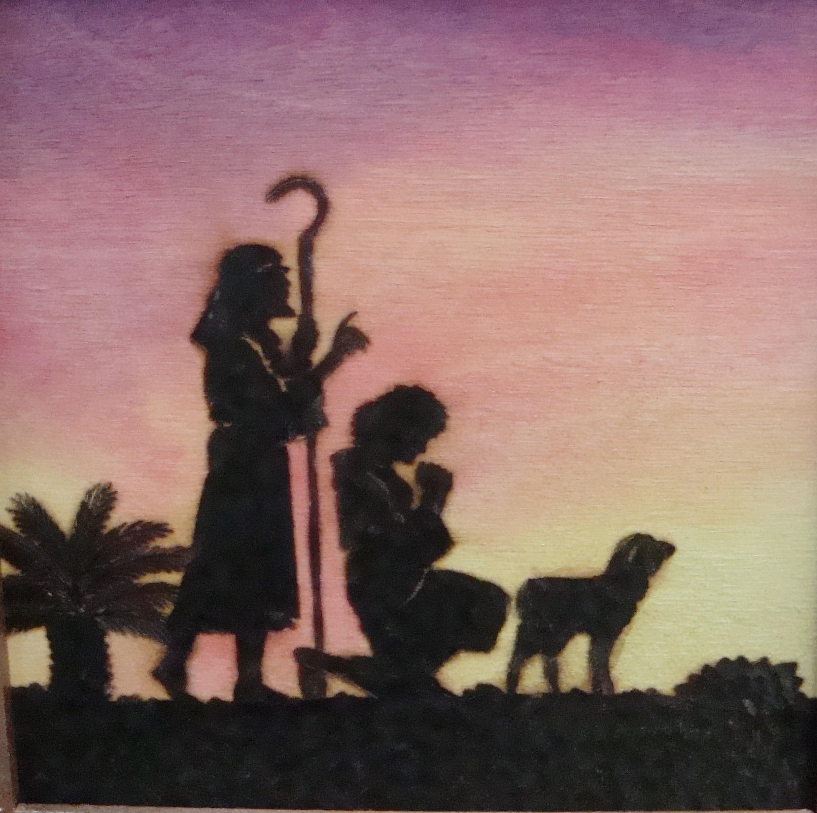 nativity silhouette shepherds offer thanks by dppratt on