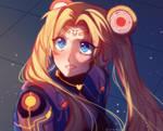 sailor moon redraw challenge [cyber moon]
