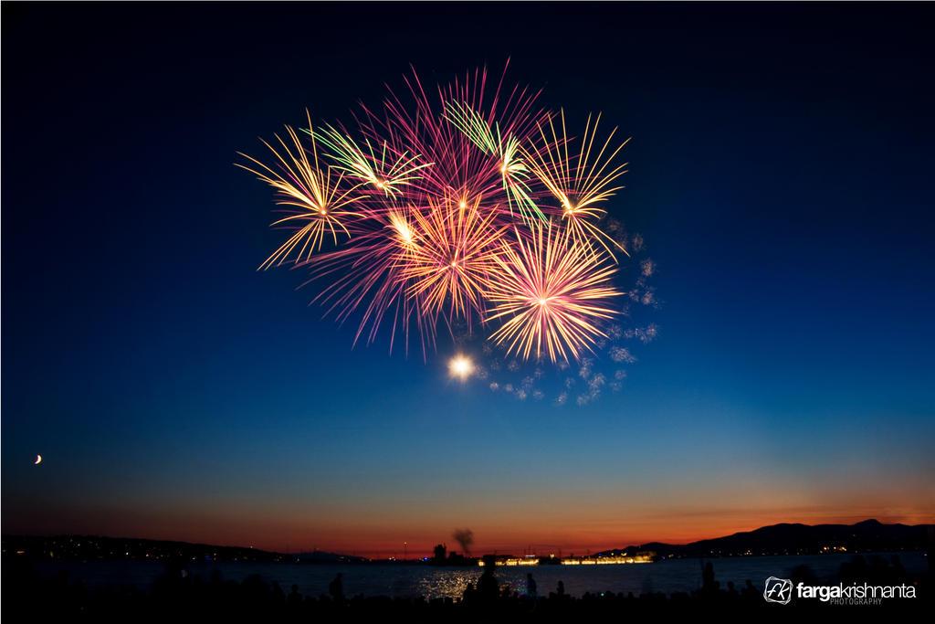 Fireworks In Sunset By Fargakrishnanta On Deviantart