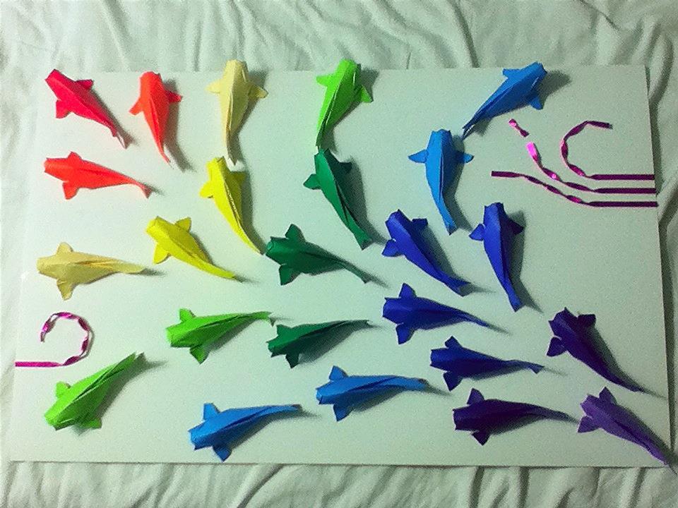 Rainbow Origami Koi Fish By Zapper Slapper On Deviantart