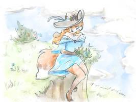 Fox female watercolor in Procreate by Pixezure