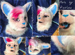 Fursuit female cat head and tail auction by Pixeloze