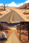 Commission: VN Background - Desert Road