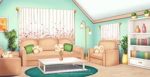 Commission: VN BG - Living Room by AvareonArt