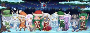 Commission WoW: MoonSun Xmas by AvareonArt