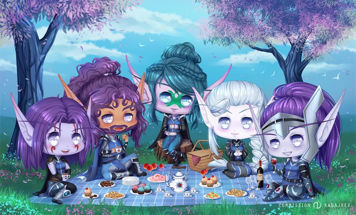 Commission WoW: Tea Party by Jenova87