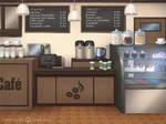 Commission BG: Coffee shop