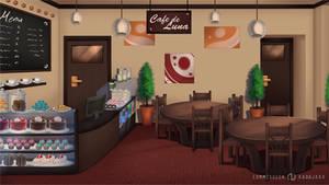 Commission BG: Cafe