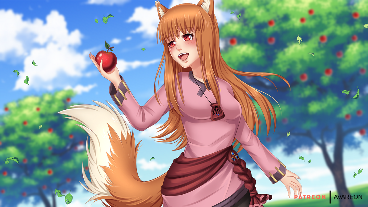 Spice And Wolf Holo Wallpaper Nsfw Optional By Avareonart On