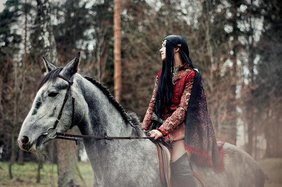 Elf Riding On A Horse II by ann-emerald