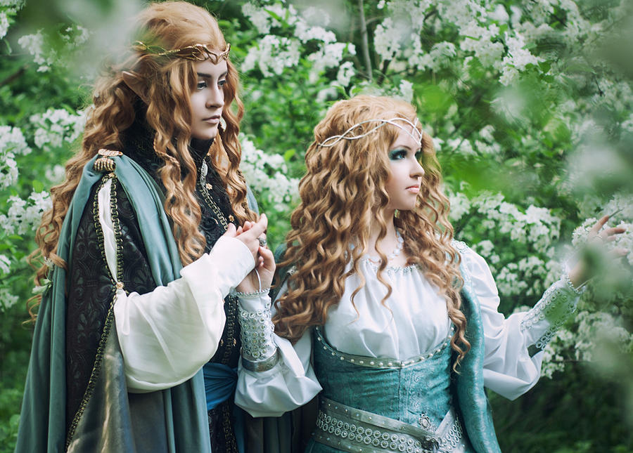 Galadriel and Finrod from Silmarillion by ann-emerald