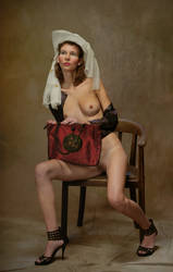Portrait of a young lady with handbag by JREKAS