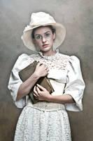 Portrait of a young, beautiful poetess by JREKAS