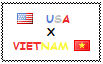 .: USA x Vietnam Stamp by ChokorettoMilku