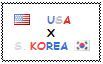 .: USA x South Korea Stamp by ChokorettoMilku
