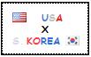 .: USA x South Korea Stamp by ChokorettoMilku