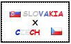 .: Slovakia x Czech Republic Stamp by ChokorettoMilku