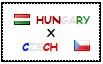 .: Hungary x Czech Republic Stamp by ChokorettoMilku