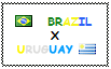 .: Brazil x Uruguay Stamp by ChokorettoMilku